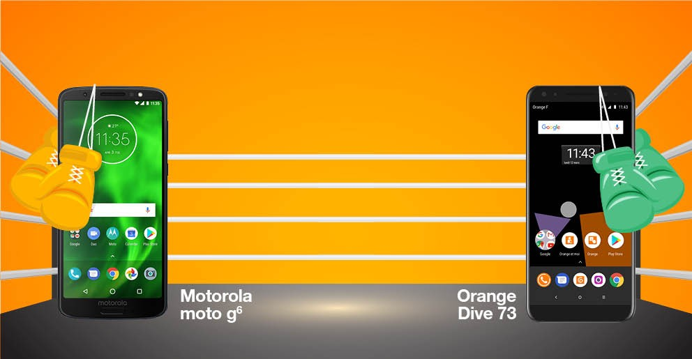 Motorola Moto G6 ou Orange Dive 73 ?