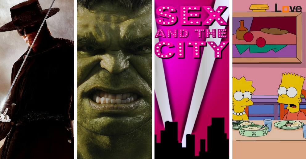 séries, télévisie, A-team, Sex and the City, The Simpsons, Hulk, movies, bioscoop
