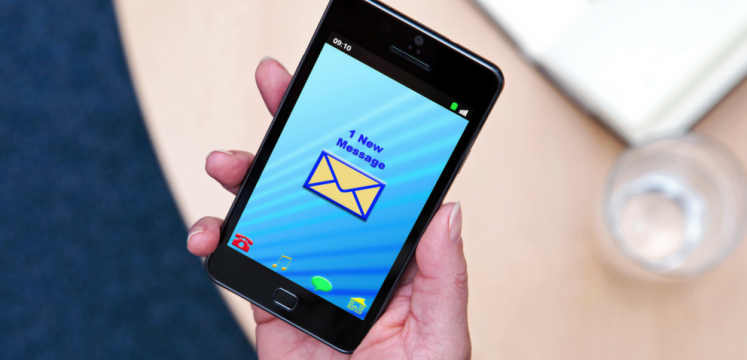 A Smartphone screen when you received a new message