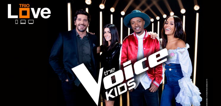 The Voice Kids France 2019 sur TF1. Le jury : Jenifer, Patrick Fiori, Soprano et Amel Bent.